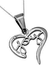 Joy Handwriting Heart Necklace