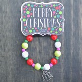 Kids Christmas Bracelet, Beaded, Angel