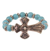 Fancy Cross Bracelet, Copper and Turquoise