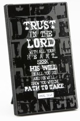 Trust In the Lord Plaque, Chalkboard Style