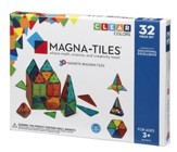 MAGNA-TILES, 32 Piece Set, Clear