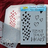 Bible Journaling Stencil, Trust Your Heart