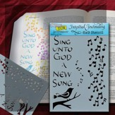 Bible Journaling Stencil, Sing Unto God A New Song