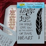 Bible Journaling Stencil, Delight In the Lord, Feather