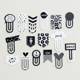 Black & White Designer Clips