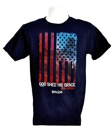 God Shed His Grace Shirt, Navy,  Small