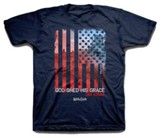 God Shed His Grace Shirt, Navy,  Youth Small