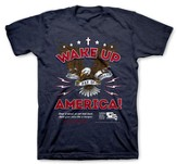 National Day of Prayer Wake Up America Shirt,  Navy Heather, Large