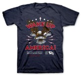 National Day of Prayer Wake Up America Shirt,  Navy Heather, Small