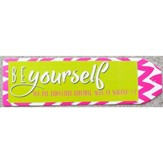 Be Yourself Chevron Bookmark, Pink