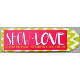 Show Love Chevron Bookmark, Lime