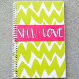 Show Love Chevron Journal, Lime