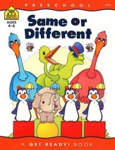 Perceptual Skills-Same or Different, Preschool Get Ready Workbooks