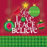 Joy, Love, Peace, Believe Napkin