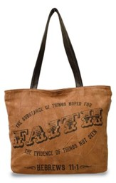 Faith, The Substance Of Things Hoped For, Suede Leather Tote Bag