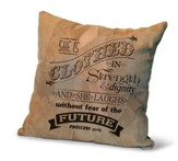 She Is Clothed In Strength and Dignity, Suede Leather Pillow