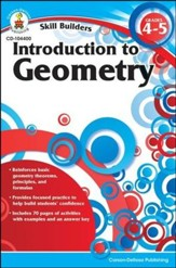 Skill Builders Introduction to Geometry, Grades 4-5