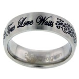 True Love Waits Ring, Flowers, Size 8