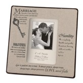 Marriage, Love Never Fails Photo Frame