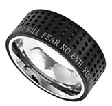 Fear No Evil, Sport Ring Black, Size 9