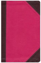 NKJV Ultraslim Reference Bible, LeatherSoft, Raspberry Mahogany, Indexed