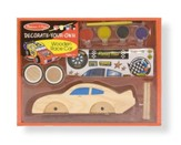 Wooden Race Car, Decorate Your Own