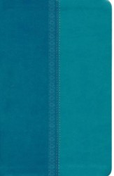 NKJV UltraSlim Reference Bible, LeatherSoft Turquois Shimmer