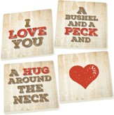 Bushel and a Peck Coasters, Set of 4