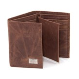 Tri-fold Wallet, Genuine Leather with Cross