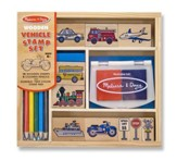 Vehicles, Rubber Stamp Set