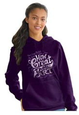How Great Thou Art, Hooded Sweatshirt, Purple, Medium