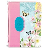 Let Your Light Shine, Bible Cover, Pink and Blue, X-Large