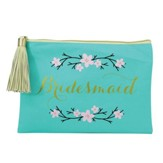 Bridesmaid Zipper Pouch, Teal