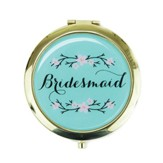 Bridesmaid Compact Mirror, Teal