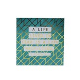 Life In Fear Wood Plaque, Teal, White & Gold