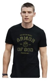 Armor Of God Camo Shirt, Black, Small
