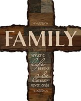 Family, Where Life Begins Wall Cross