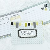 Birthday Keepsake Journal, Black & Yellow