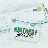 Birthday Keepsake Journal, Blue Floral