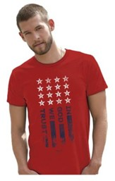 In God We Trust Shirt, Red, X-Large