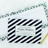 Precious Memories Keepsake Journal, Navy Stripes