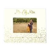 Mr. and Mrs. Wood Frame, White and Gold