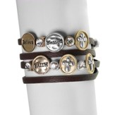 Believe Blessed Live Faux Leather Wrap Bracelet