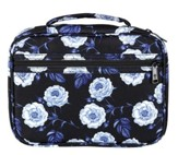 Floral Polyester Bible Cover, Black, X-Large