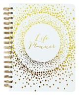 Charlotte Spiral Bound Life Life Planner, White and Gold