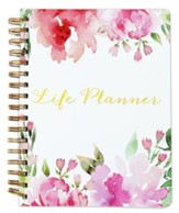 Embry Life Planner, White/Pink Watercolor