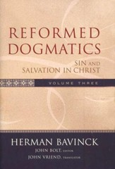 Reformed Dogmatics, Volume 3: Sin and Salvation in Christ