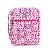 Bible Cover, Pink and White, Extra Large