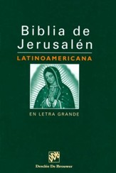 Biblia de Jerusalén Latinoamericana Legra Grande, Enc. Dura  (Latinoamerican Jerusalem Bible, LgPt., Hardcover, Ind.)  - Slightly Imperfect