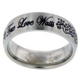 True Love Waits Ring, Flowers, Size 9